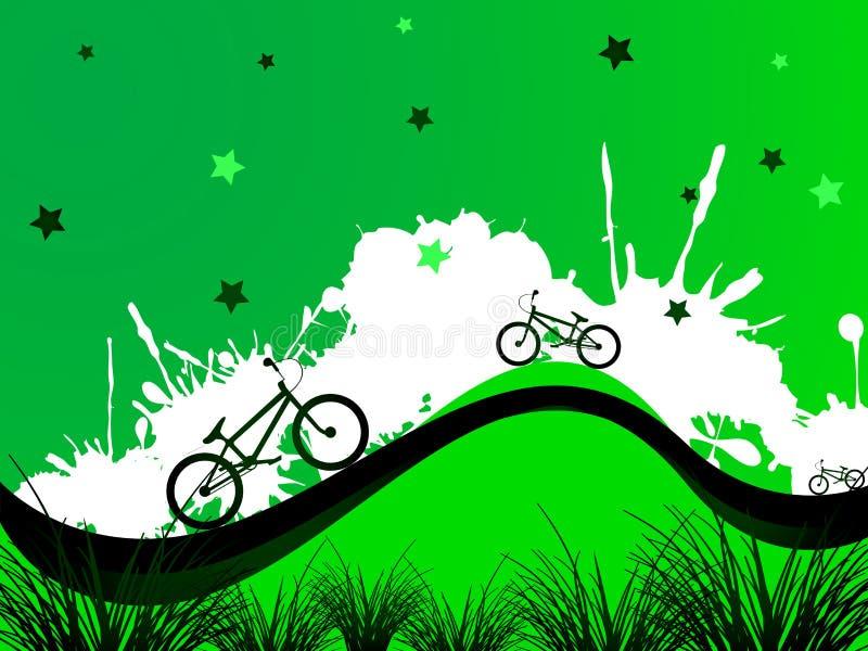 tło bicykle royalty ilustracja