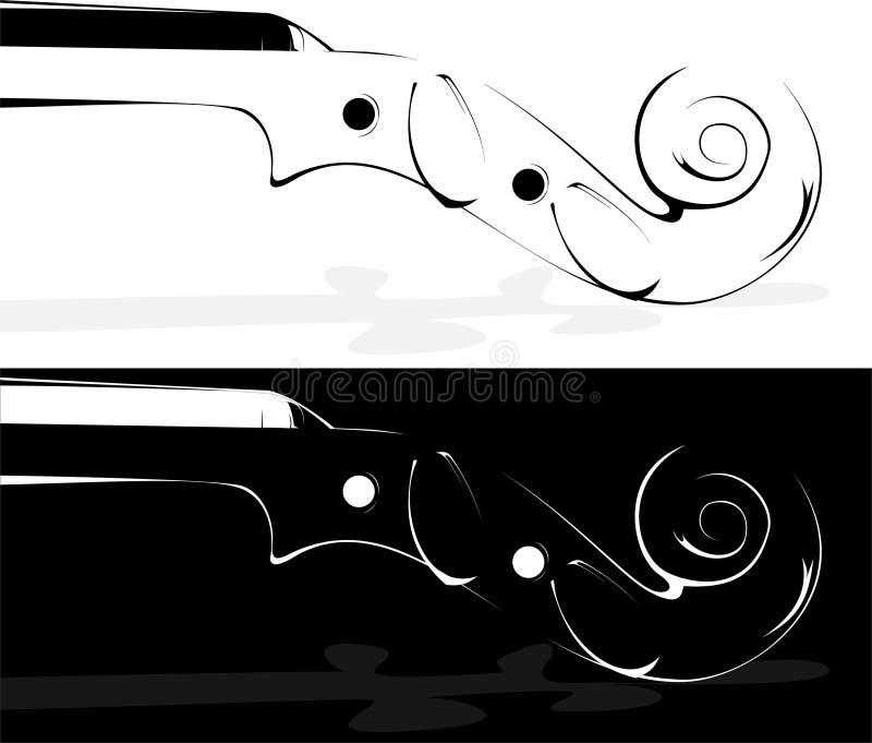 tło biel czarny skrzypcowy ilustracji