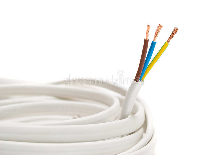 tło biel kablowy elektryczny obrazy stock