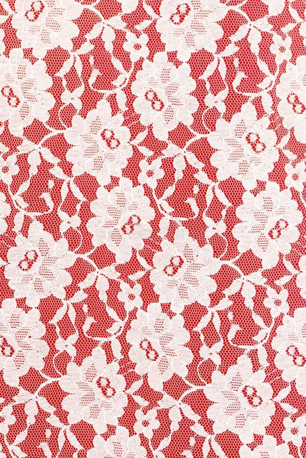 tło biel koronkowy czerwony obrazy stock