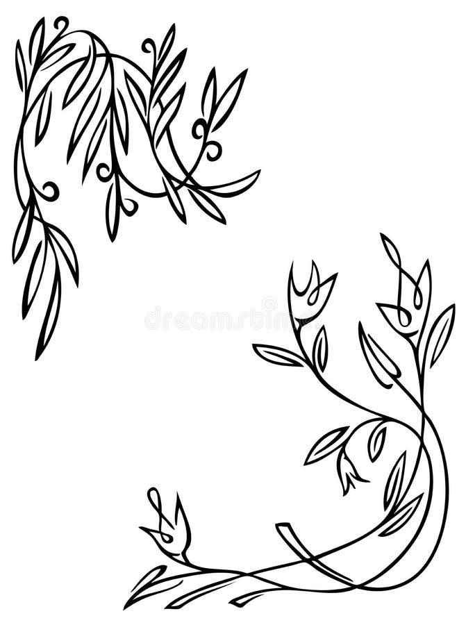 tło biel kwiecisty deseniowy ilustracji