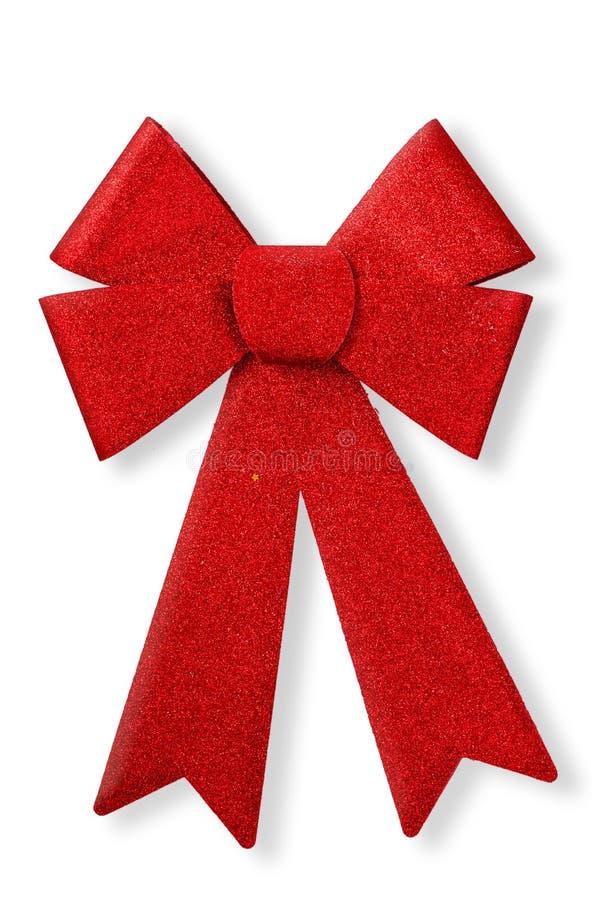 tło biel odosobniony czerwony tasiemkowy obrazy royalty free