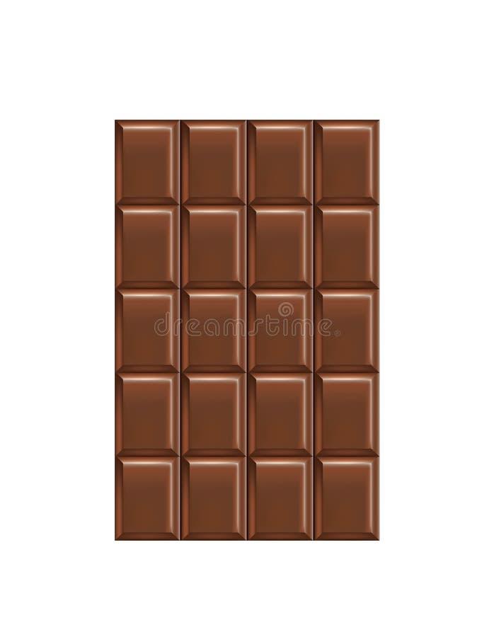 tło biel prętowy czekoladowy ilustracja wektor