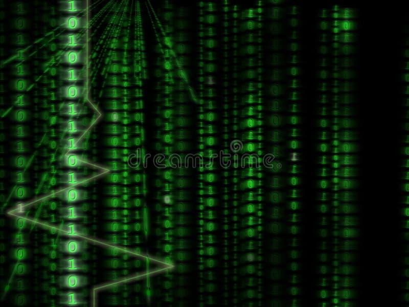tło binarnego kodu komputerowego matrycę styl royalty ilustracja