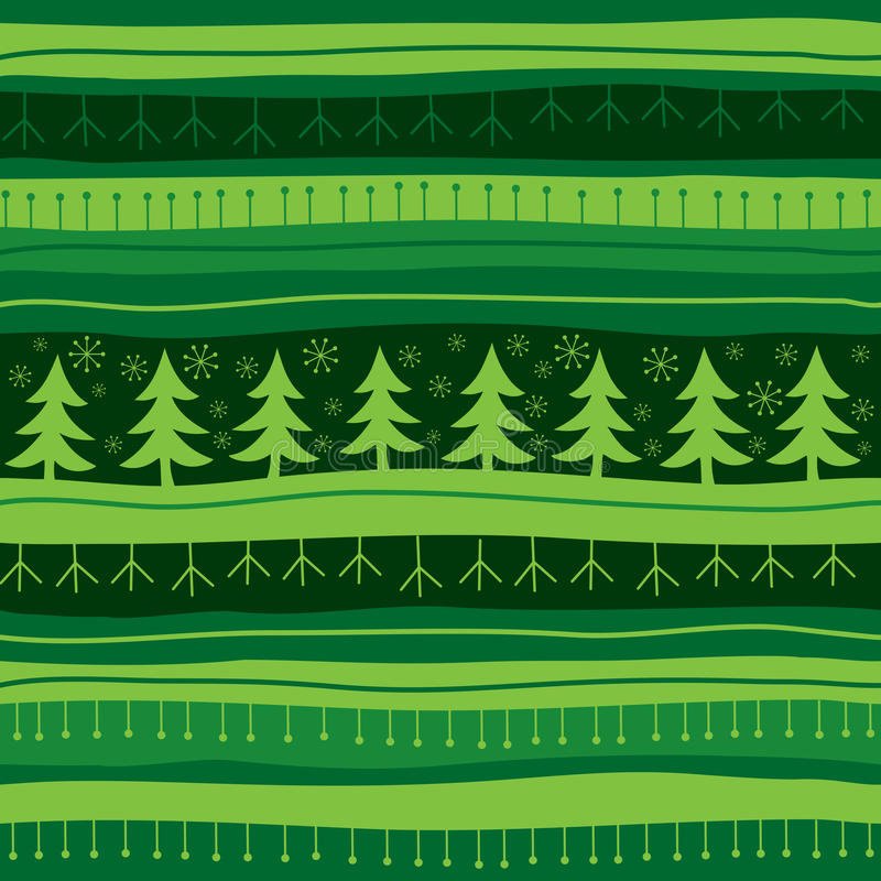 tło boże narodzenia zielenieją bezszwowego ilustracji