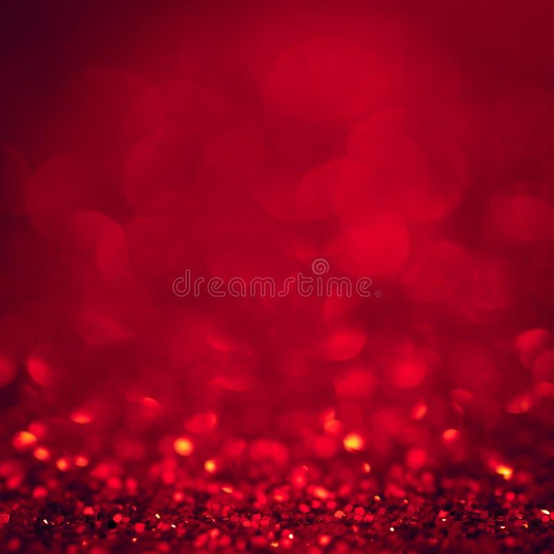 Tło bożonarodzeniowe światła błyskotliwości abstrakta czerwony xmas z bokeh fotografia royalty free