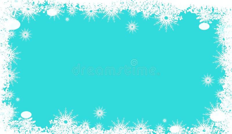 Tło bożonarodzeniowe z płatkami śniegu i miejsce na tekst Projekt ilustracji fotografia royalty free