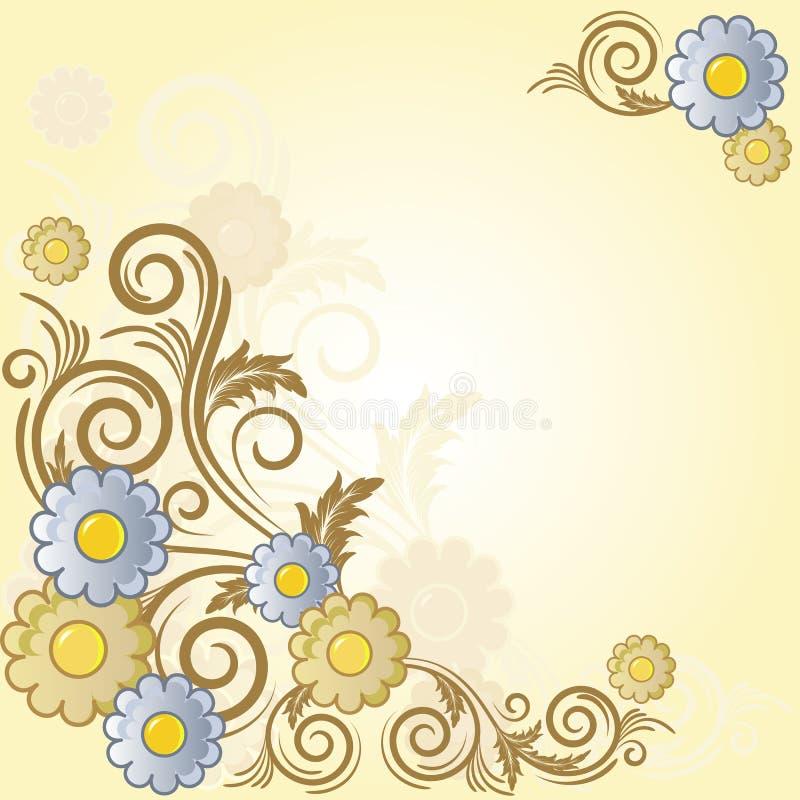 tło branch kwiaty ilustracja wektor