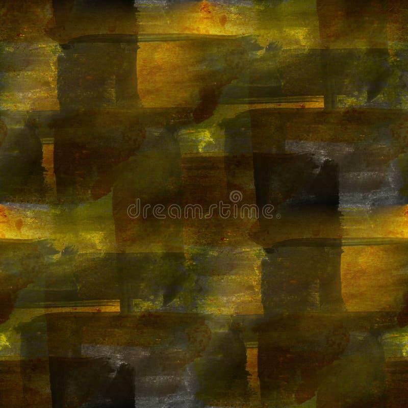 Tło brown akwareli abstrakta bezszwowy pa ilustracja wektor