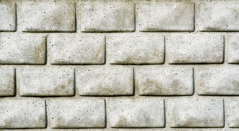Tło Brudny Popielaty ściana z cegieł Bezszwowy obraz stock