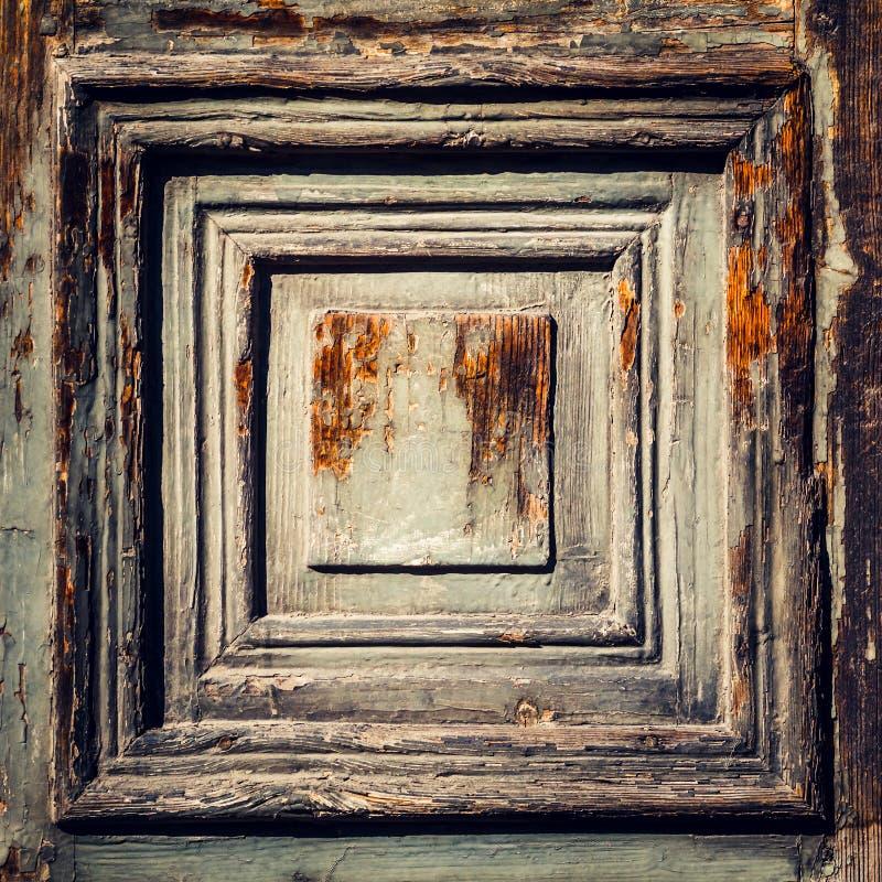 Tło bryła Starzejąca się Drewniana część drzwi lub kaseton Bardzo ( obraz royalty free