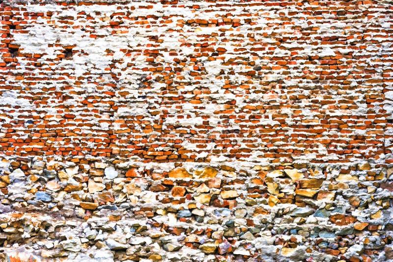 Tło ceglana i kamienna ściana animująca obraz stock