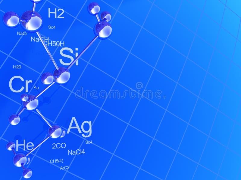 tło chemia ilustracji