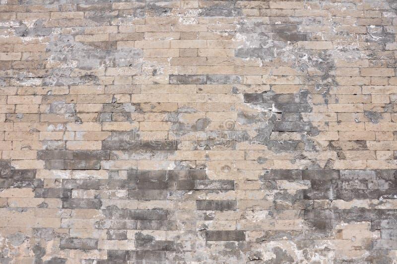 Tło chiński antyczny ściana z cegieł obraz stock