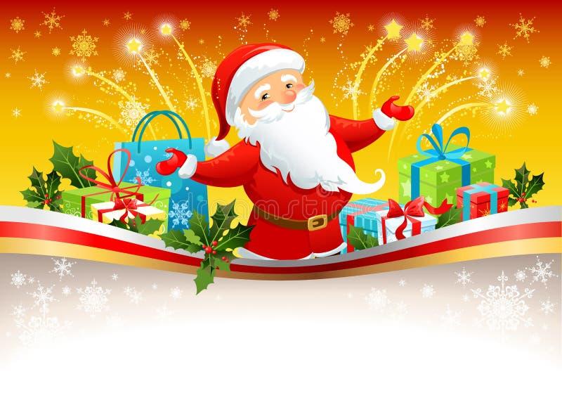 tło Claus świąteczny Santa ilustracji