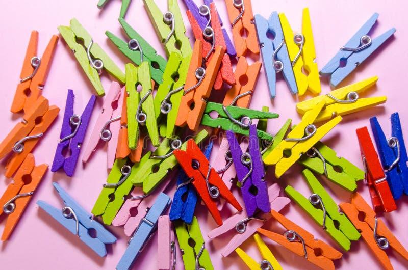 Tło clothespins obrazy stock