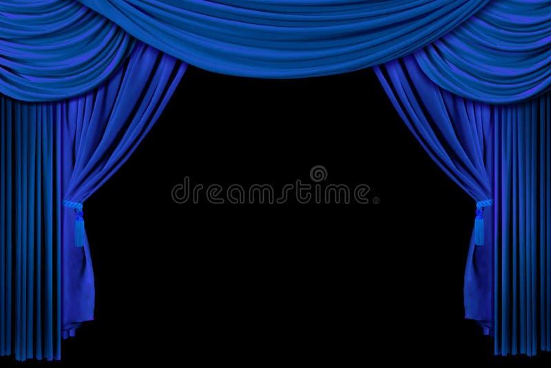tło czarne zasłony zasłony scenę ilustracja wektor