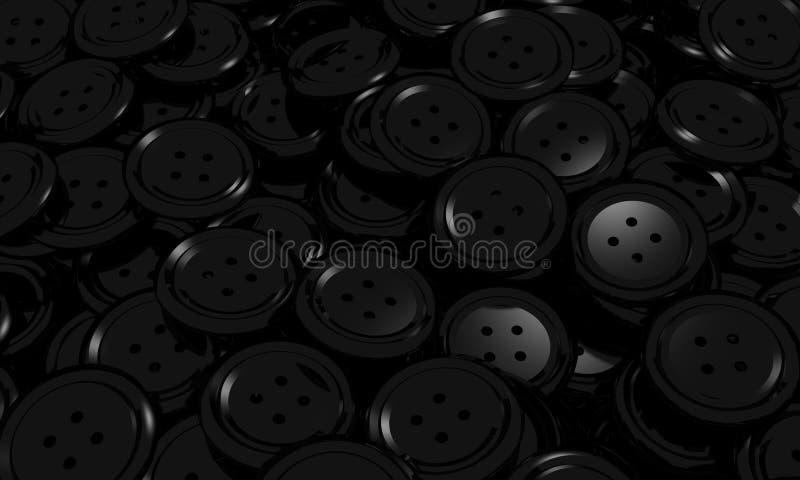 Tło czarny guzik odziewa ilustracji