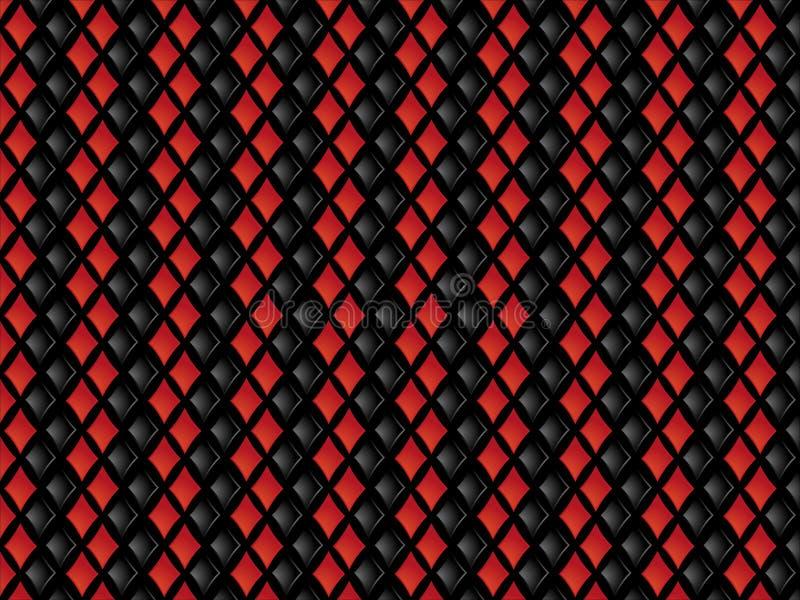 tło czerwień czarny karowa ilustracji