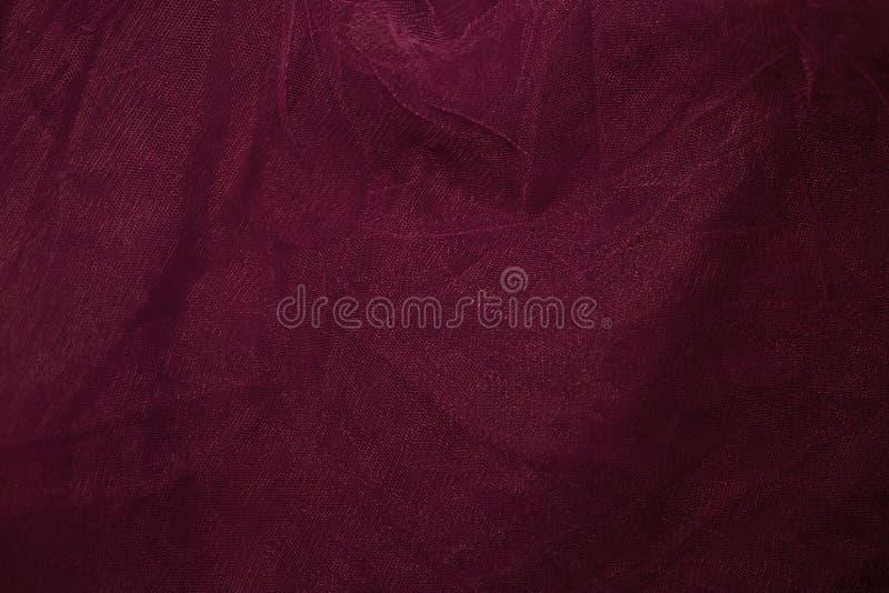 Tło czerwona sukienna siatka fotografia stock