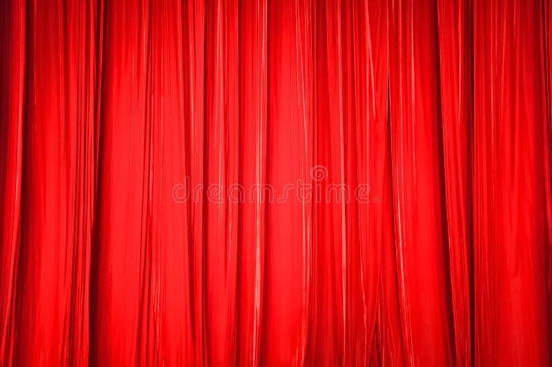 Tło czerwona zasłona fotografia royalty free