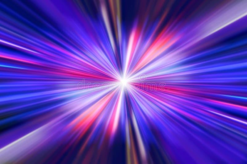 Tło czerwone światło promienie na zmroku - czerwonym i błękitnym tle zdjęcia royalty free
