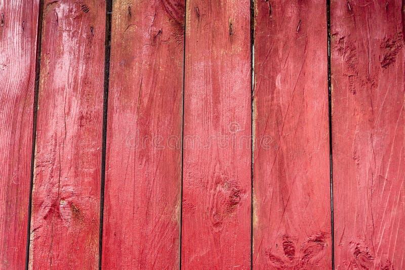 Tło czerwone stare drewniane deski Stary drewniany tekstury tło, bezpłatna przestrzeń zdjęcia royalty free