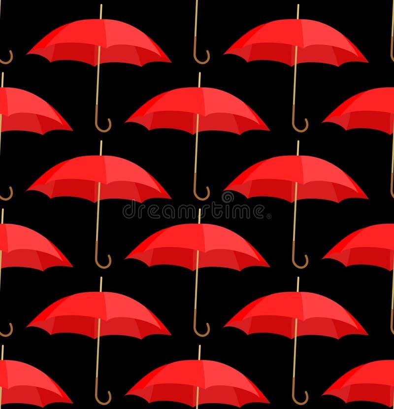 tło czerwoni semless parasole ilustracja wektor