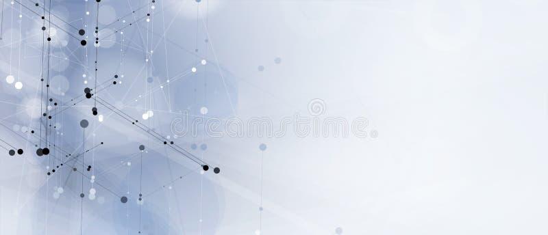 Tło danych technologicznych, koncepcja globalnego rozwiązania biznesowego ilustracji