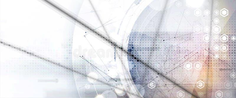 Tło danych technologicznych, koncepcja globalnego rozwiązania biznesowego ilustracja wektor