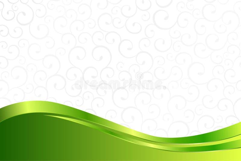 Tło deseniowy biel popielaty z zielonymi linami royalty ilustracja