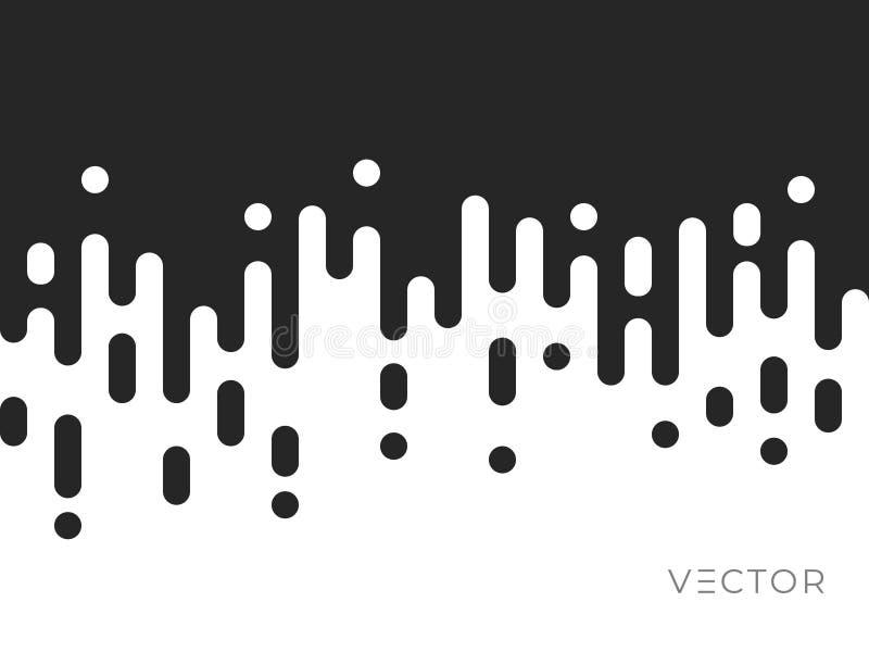 Tło deseniu przejścia linii, abstrakcyjna nieregularna tekstura geometryczna, wektorowy projekt cyfrowy. Kolor czarno-biały ilustracja wektor