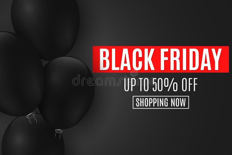 Tło dla Black Friday sprzedaży Czerń szybko się zwiększać na ciemnym tle z tekstem duży rabaty Dla twój biznesowego projekta Sieć ilustracja wektor