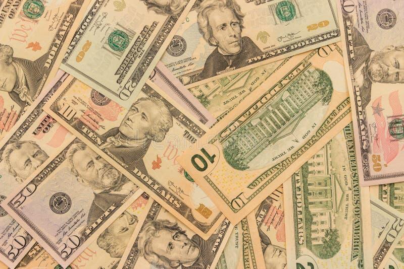 Tło dolarowi wyznania różni wyznania S obrazy royalty free
