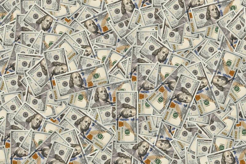 Tło 100 dolarowych rachunków monetarna tekstura Bogactwo pojęcie Duzi zyski Milion U S samiec zdjęcie royalty free