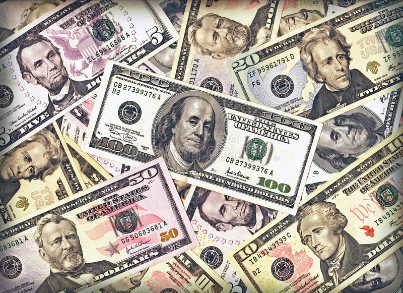 tło dolary zdjęcia stock