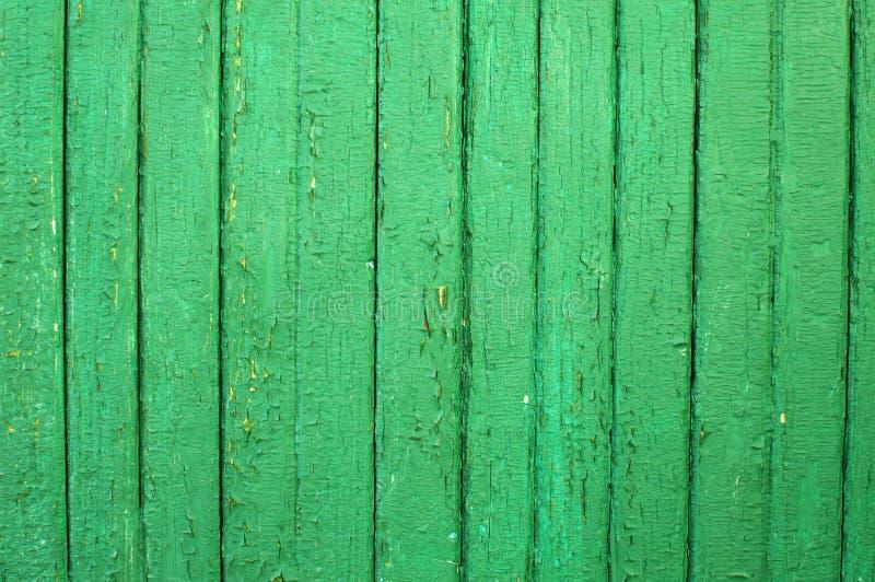 Tło drewniany zieleni ogrodzenie obrazy royalty free
