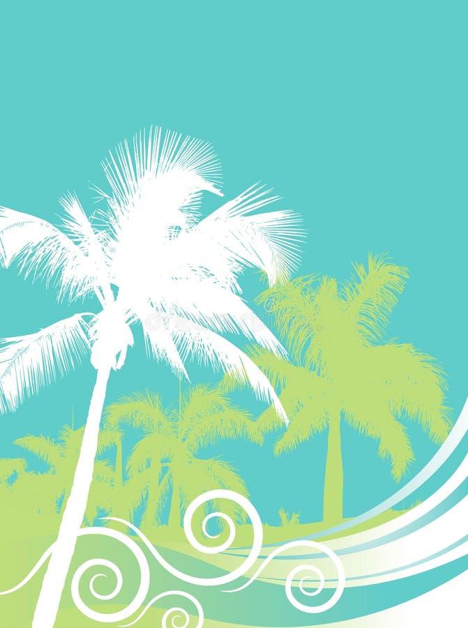 tło drzewka palmowe royalty ilustracja