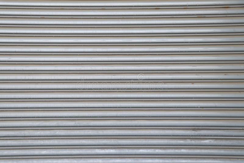 Tło drzwi ze stali walcowanej Powierzchnia drzwi walcowanych stalowych obrazy stock