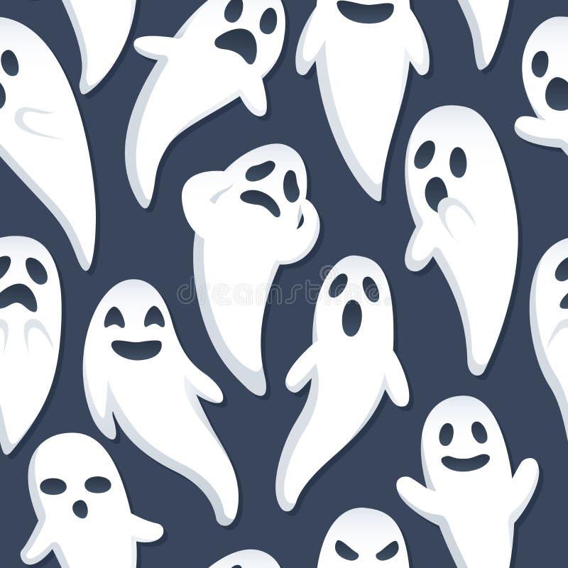 tło duch Halloween ilustracja wektor