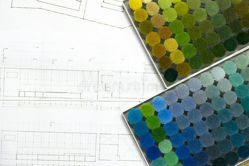 Tło dywanu kolorowe próbki obrazy stock