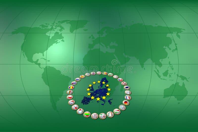 tło euro ilustracja wektor