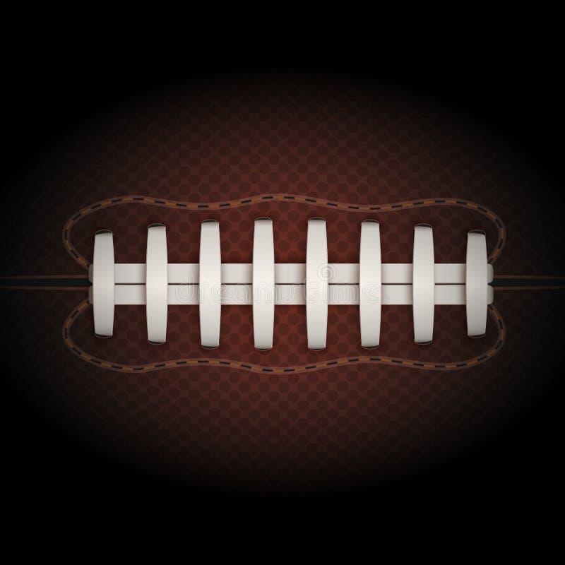 Tło futbol amerykański piłka wektor ilustracji