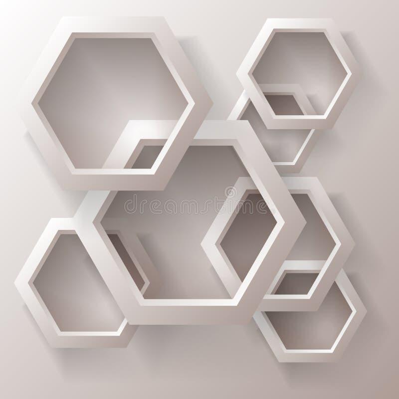 tło geometrycznego abstrakcyjne royalty ilustracja