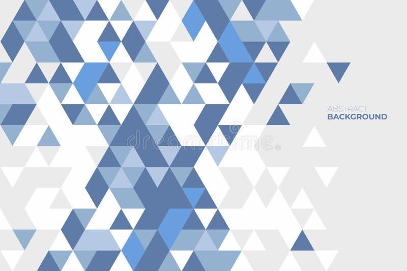 tło geometrycznego abstrakcyjne Tło geometryczni kształty kolorowe mozaika schematu trójkąt światła tło ilustracji
