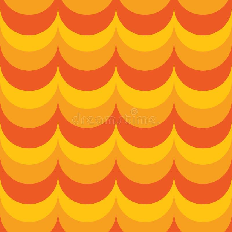 tło geometrycznego abstrakcyjne okrąża kolorowego royalty ilustracja