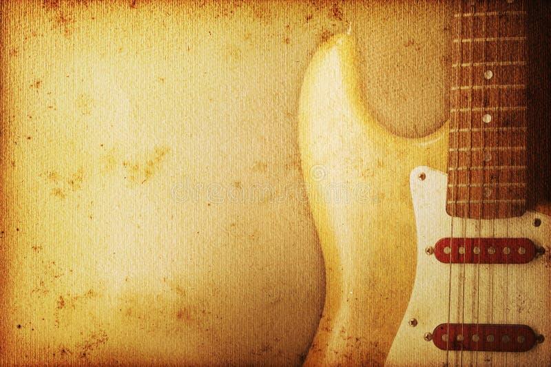 tło gitara royalty ilustracja