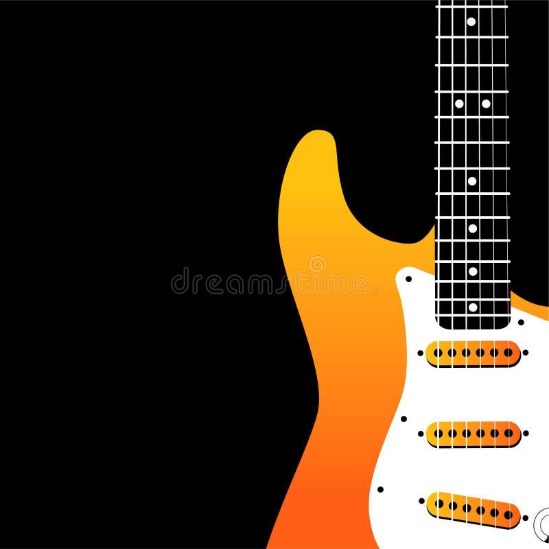 tło gitara elektryczna royalty ilustracja