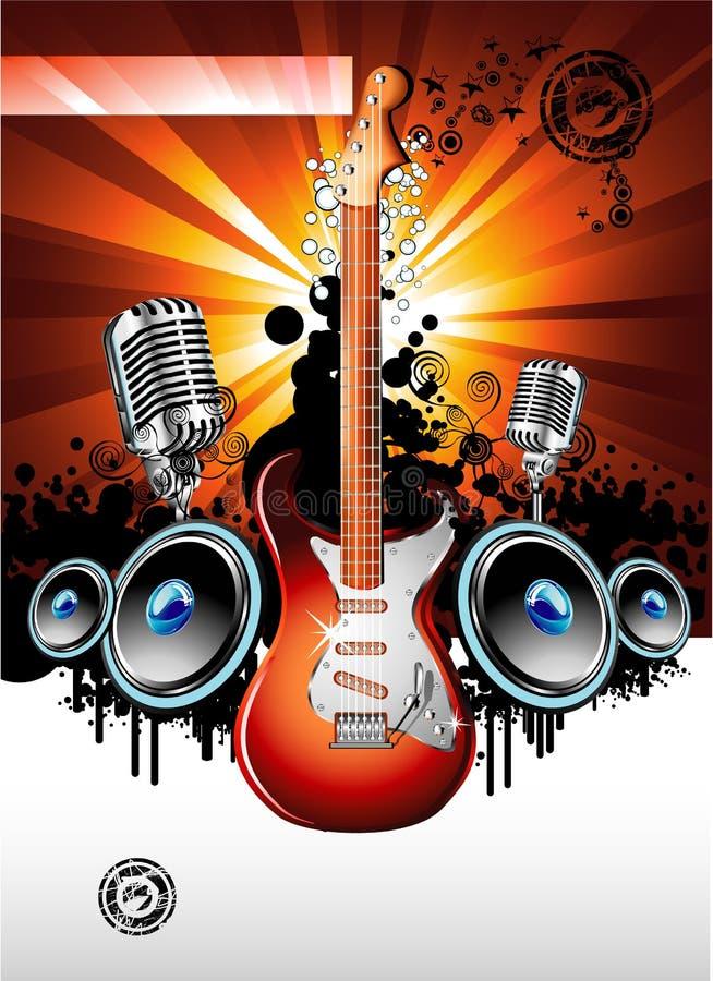 tło gitara elektryczna ilustracji