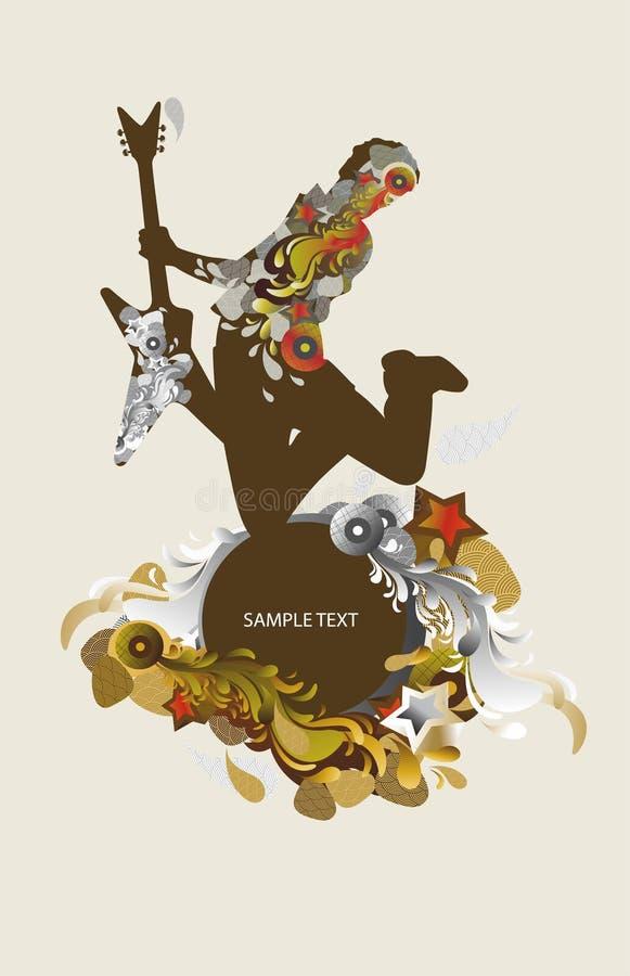 tło gitarzysty muzyki royalty ilustracja